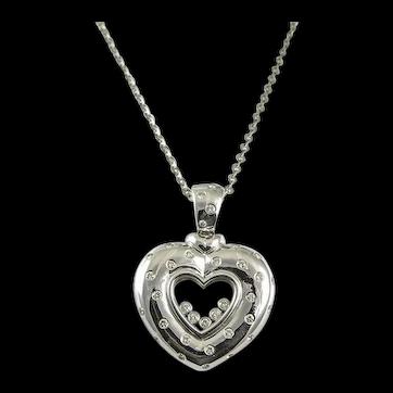 18Kt. Happy Diamond Heart Necklace