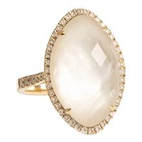 18kt Diamond Mother of Pearl Ring