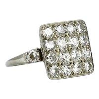 Art Deco Palladium and Diamond Ring