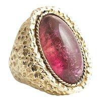 Impressive and Large Birks Handmade Tourmaline Ring.