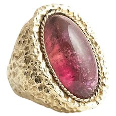 Impressive and Large Birks Handmade Tourmaline Ring.