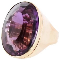 Spectacular 50 ct. Amethyst and 14kt Gold Ring.