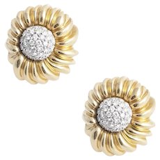 Vintage Tiffany & Co. Gold and Diamond Earrings