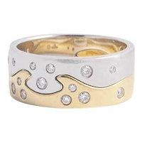 Georg Jensen 18kt. Diamond Fusion Ring. Size 10.