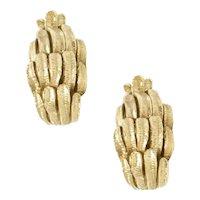 18kt. Yellow Gold Handmade Earrings.