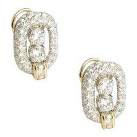 Toni Cavelti Diamond and Platinum Ear Clips.