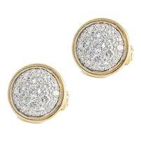 Lovely Quality Ferran  Diamond Two-Tone 18kt. Gold Earrings.