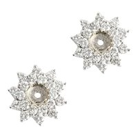 Diamond and White Gold Ear Stud Jackets. 2.2 cts.