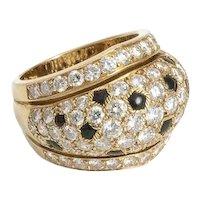 """Cartier """" Nigeria """" Diamond Onyx Ring."""
