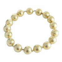Bold 18kt Yellow Gold Ball Necklace. Royal de Versailles.