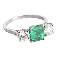 Birks Columbian Emerald and Diamond Ring