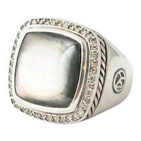 David Yurman Diamond Abalone Albion Ring