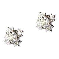 High Quality Diamond Ear Studs - .78 F,G-VVS2.