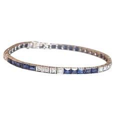 Art Deco Diamond Platinum Line Bracelet circa 1925.