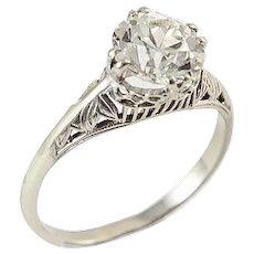 Art Deco 1.83 CT. Diamond Ring