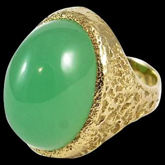 Karl Stittgen 18K Chrysoprase Ring