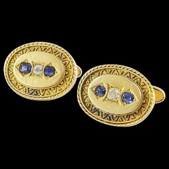 Antique Gold and Diamond Cufflinks