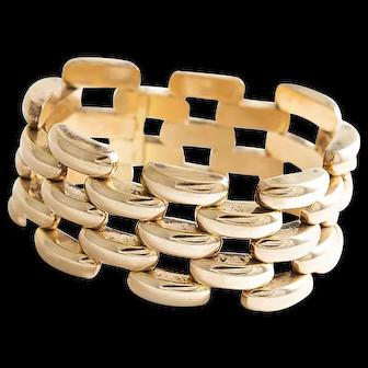 Exceptional bold 14kt Rose Gold Bracelet