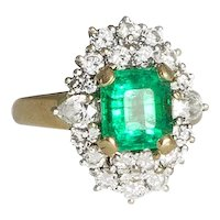 Vintage Emerald and Diamond Ring.
