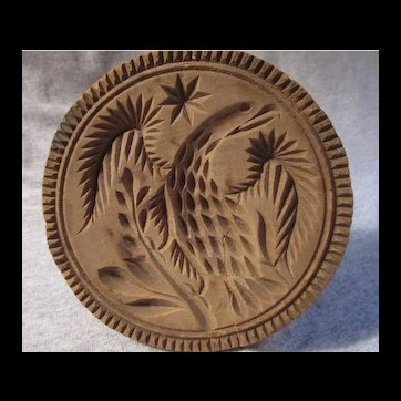 Antique Wooden Butter Mold EAGLE Lancaster County PA Dutch original AAFA