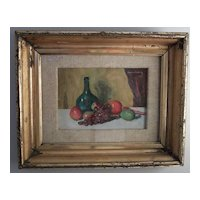 "Maurice Molarsky 1885-1950 ""Still Life with Fruit"" 1940 Oil Painting"