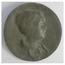 """Everett L. Bryant 1864 - 1945 """"Young Woman"""" Bronze Art Nouveau"""
