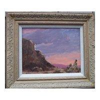"Albert Lorey Groll 1866-1952 ""Laguna Sunset"" Oil Painting"