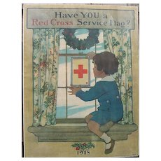 Jessie Wilcox Smith 1863-1935 Original Red Cross Service Flag Poster 1918