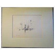 Harry A Vincent (1864-1931) REVERIE original drawing listed Rockport artist