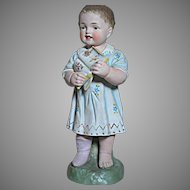 Vintage Porcelain Statue My son John  Germany  Twelve  inches Tall