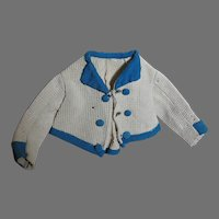 Jacket for French Fashion  Doll or China Head  Doll