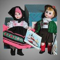 Two Madame Alexander doll MIB  Austria Boy and Yugoslavia   International Dolls