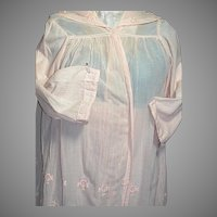 Woman's  Edwardian Embroidery fine Cotton Light Peach Top and Skirt.