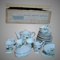 Childrens Little Hostess Dishes for Playtime  Complete Set MIB   China Dish set Japan