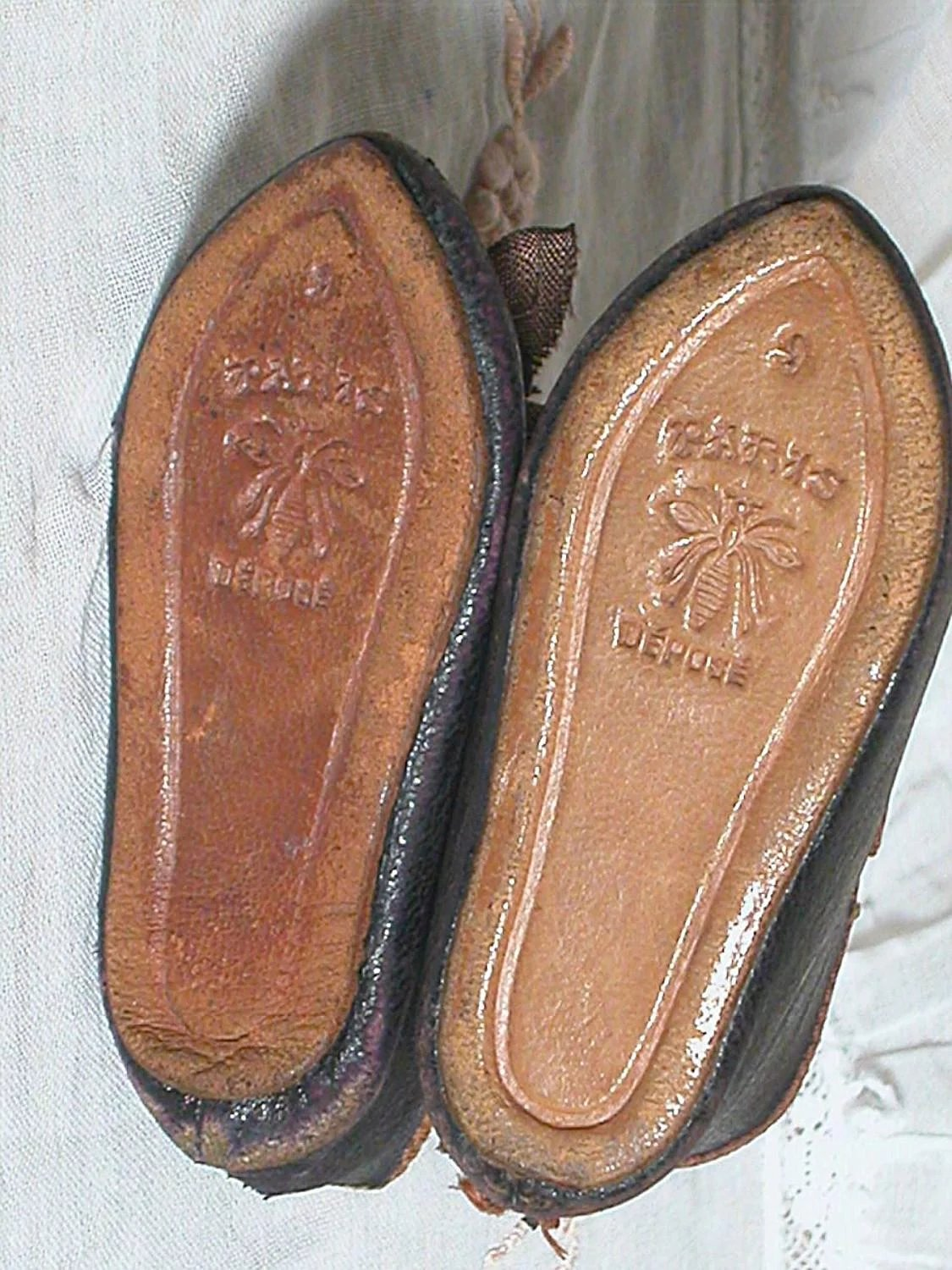 One Leather Shoes Darker Than Other