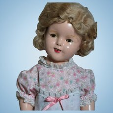 Ideal Shirley Temple  Composition Doll   Marked on Head  18""