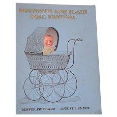 UFDC 29th Annual Doll Convention Denver Colorado Souvenir Book  1978