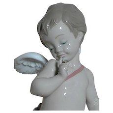 lladro Porcelain Cupid Figurine # 6311  Cupid   Loving Archer  Mint