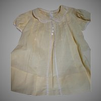 Vintage  Yellow Cotton Childs Dress with Lovely Handwork
