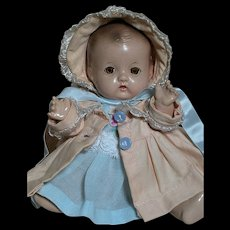 Effanbee Composition Patsy Babyette Doll Sleep eyes 9""