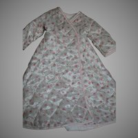 Wonderful Doll Quilted Robe  Suitable for Hard Plastic Dolls 1950s