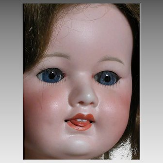 Very Rare SFBJ # 246 French Doll  Two Teeth and a Protruding Tonque Composition Body 21""