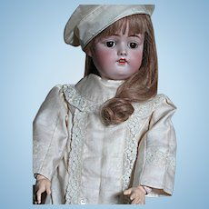 Beautiful Kestner German Doll # 168  Geat Outfit and German Marked Antique Shoes