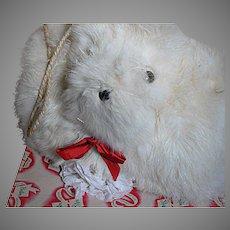 Childs White  Fur Muff in Original Christmas Box Boston Star