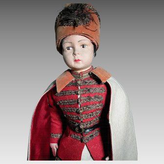 Large Felt Cossack Doll Wonderful Original Outfit  Swords in the Boots  27""
