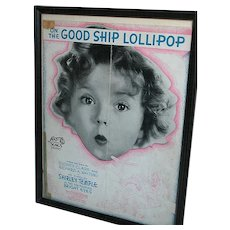 Shirley Temple Framed Movietone  picture  The Good Ship Lollipop