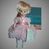Madame Alexander Renoir Doll MIB  Pink Lace Dress  1970s