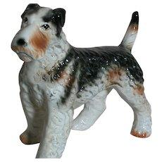 Fox Terrier Dog Porcelain Figurine Looks like a Real Fox Terrier