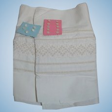 Sax Muslin Fabric Material with embroidery and Cards of Buttons
