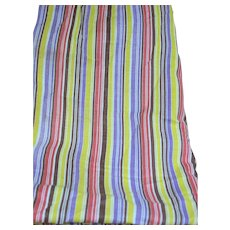 Quilt Fabric from Flour Feed Sack   Colorful Multi Colored  Stripes